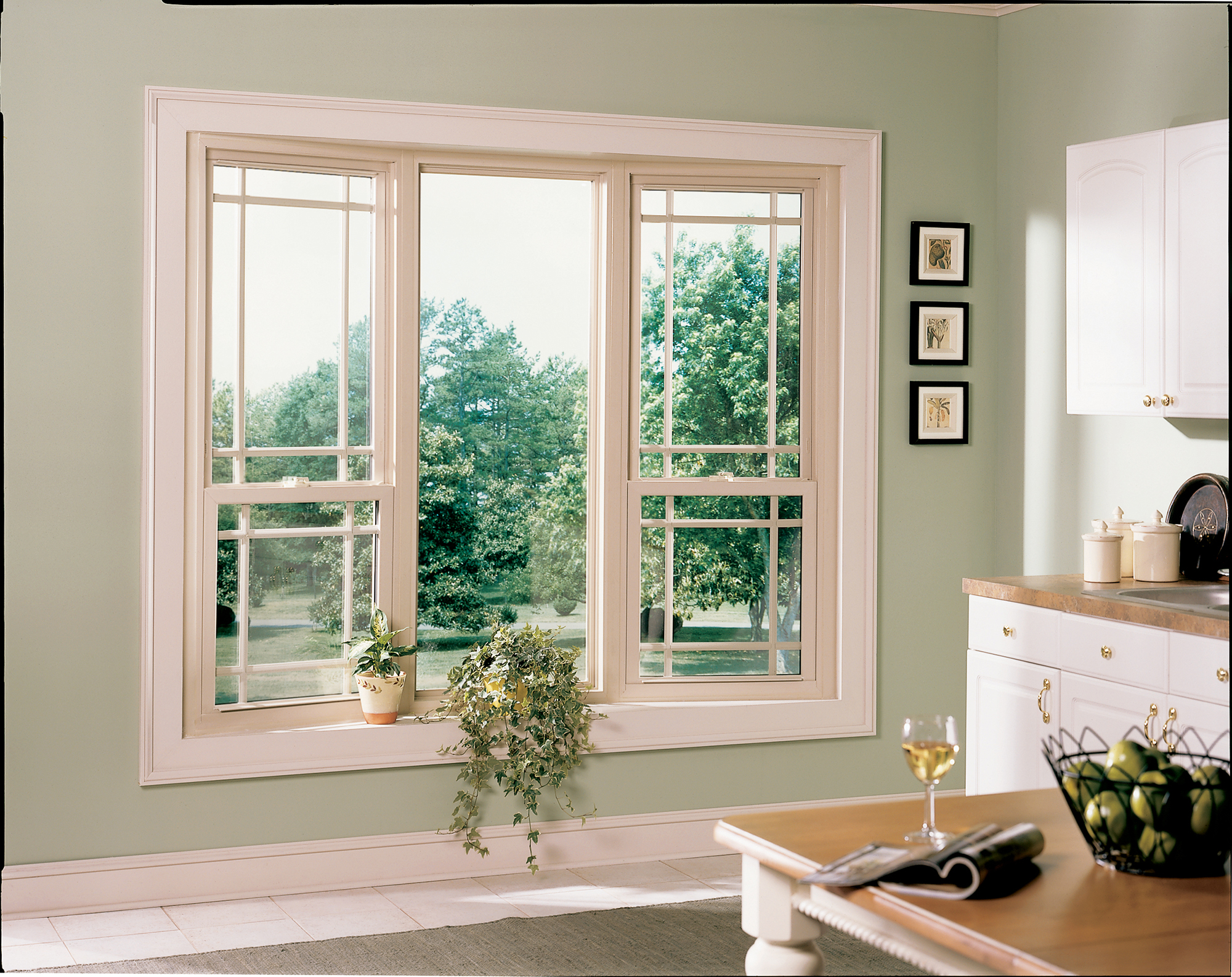 A perfect pair of craftsman double hung windows.