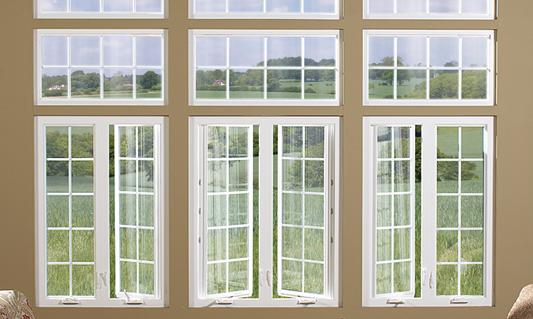 A bank of fixed and tilt-in windows that you'll never be sorry to sit by.